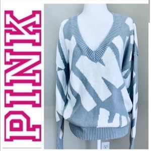 NWT PINK Victoria's Secret Oversized Vneck SWEATER
